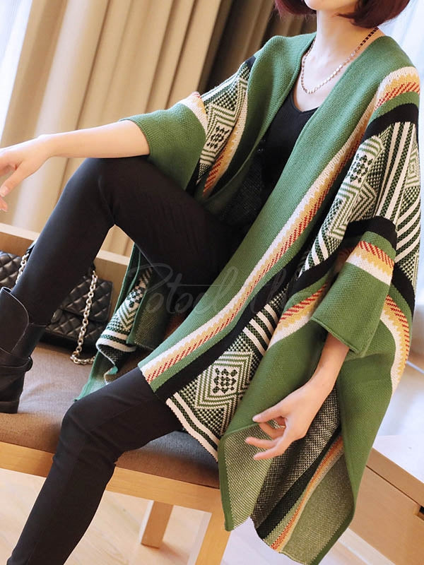 Ethnic Style Pattern Loose Cardigan Coat