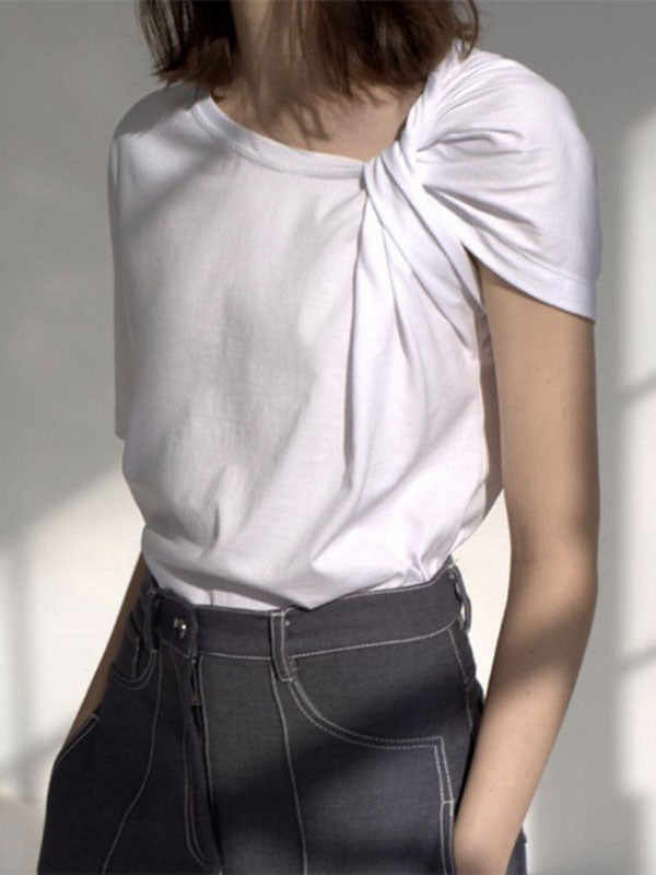 Asymmetric Solid T-Shirt