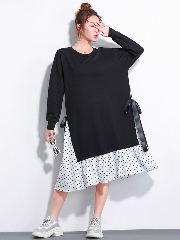 False-two Plus Size Loose Sweet Midi Dresses