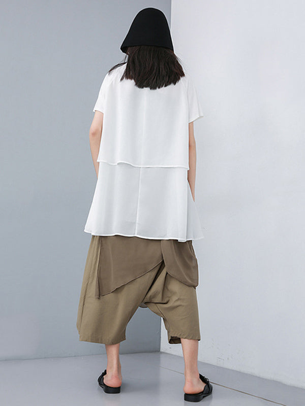 Loose Irregular Chiffon T-shirt