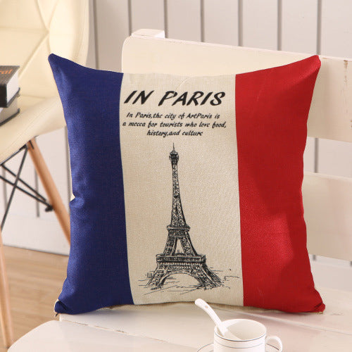 Eiffel Tower Square Pillow Case