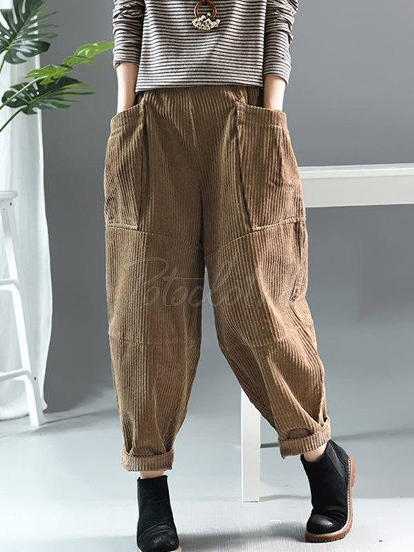 Original Corduroy Pocket Harem Pants
