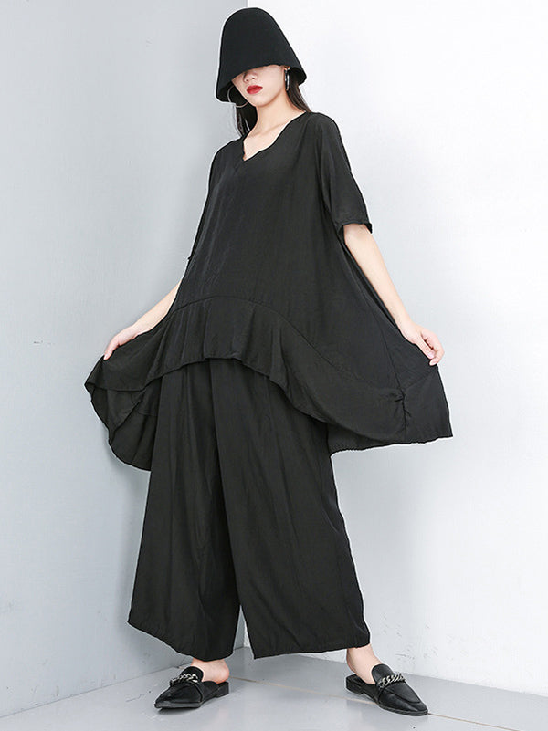 Loose Soft Wide-leg Suits