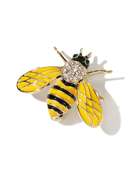 Flamingo Bee Pretty Brooch