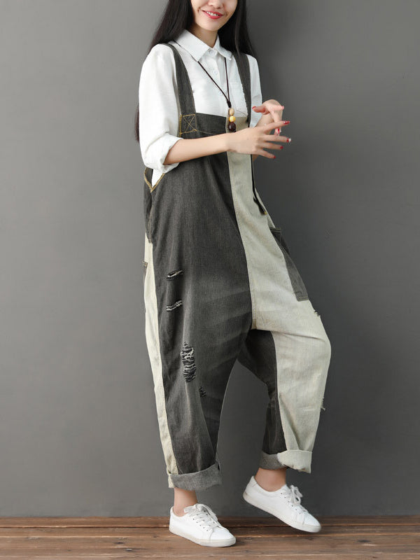 Loose Split-joint Jumpsuit