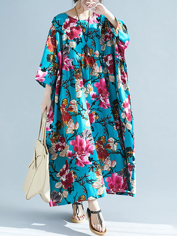National Style Colorful Cotton Long Dress