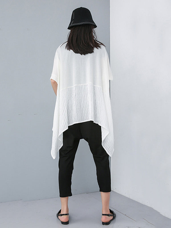 Loose Split-joint Batwing T-shirt
