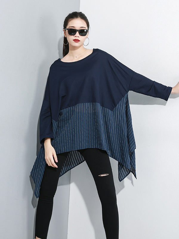 Loose Split-joint Cropped Blouses