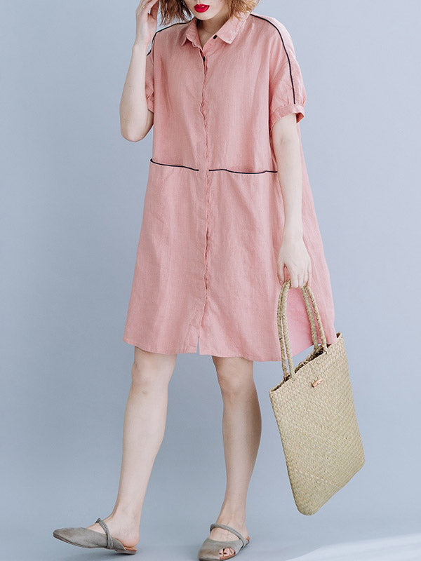 Casual Cotton Shirt Dress