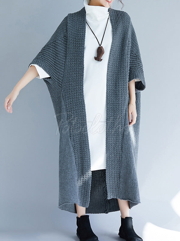 Loose Special Cut Knitting Cardigan