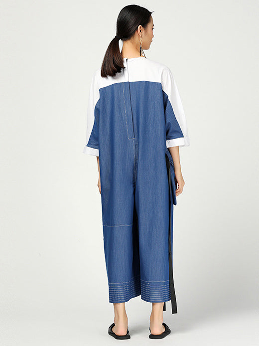Original Denim Split-joint Jumpsuits