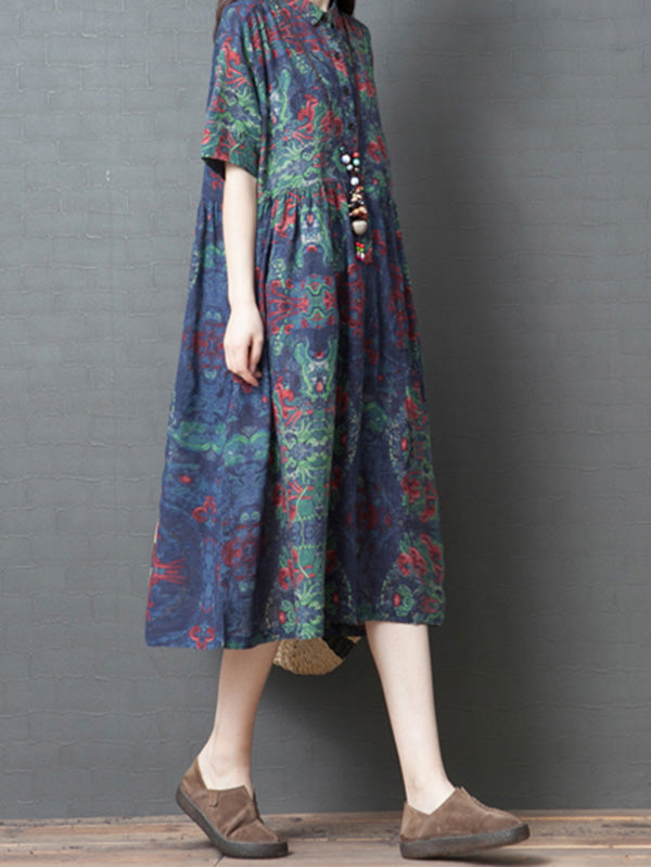 Loose National Style Long Dress
