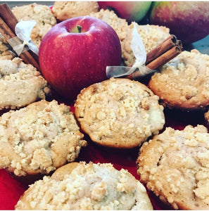 Apple Streusel Muffins (Eggless)