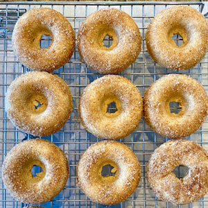 Eggless Apple Cider Donuts