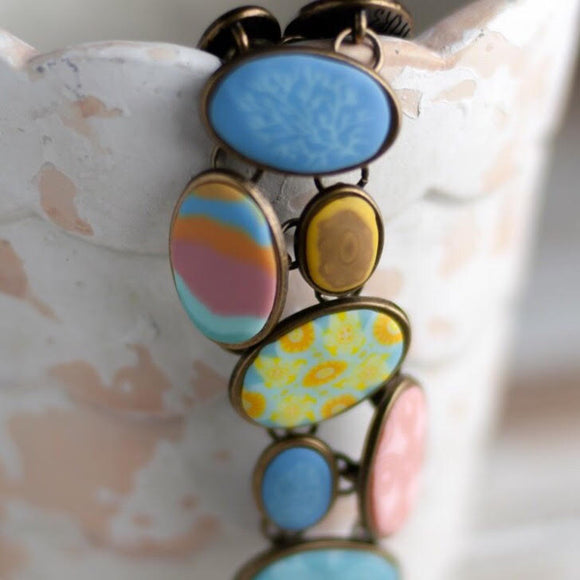 Salt Water Taffy Cobblestone Bracelet