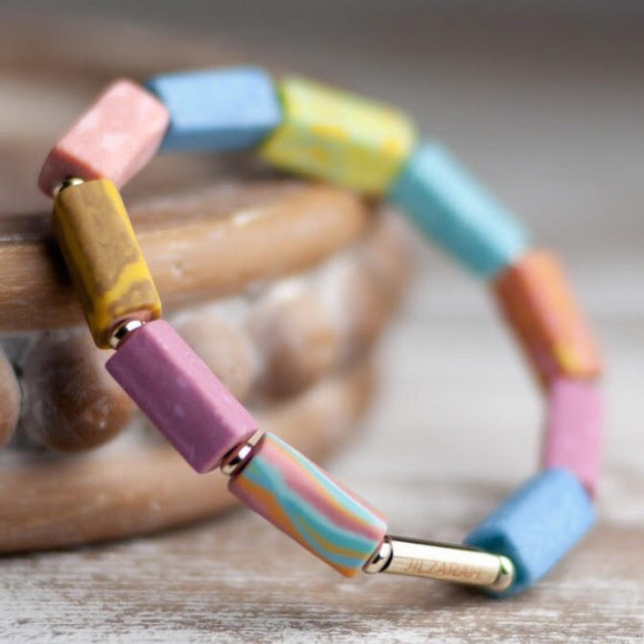 Salt Water Taffy Square Beaded Bracelet