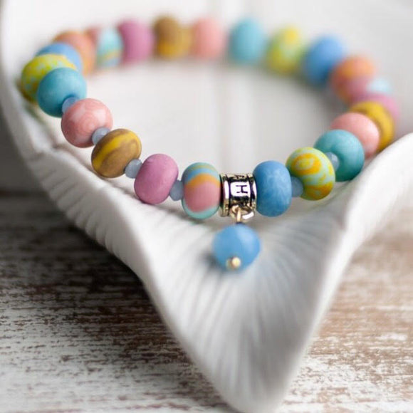 Salt Water Taffy Clay Bead Bracelet