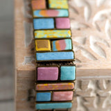 Salt Water Taffy Square Cobblestone Bracelet