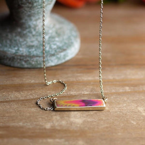 Bohemian Gold Reversible Bar Necklace