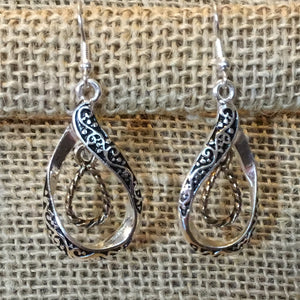 Silver and Gold Twist Filigree Earrings