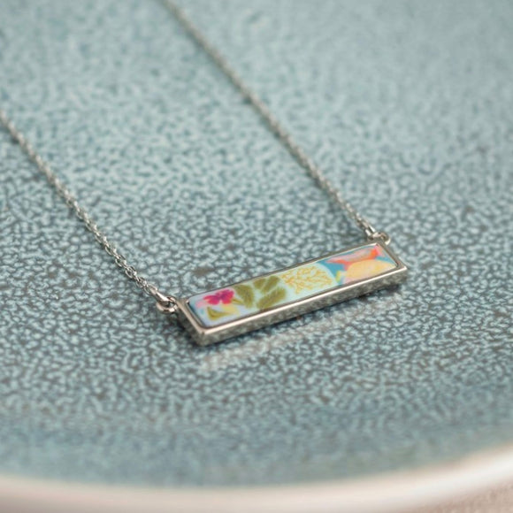 Tahiti Silver Reversible Bar Necklace