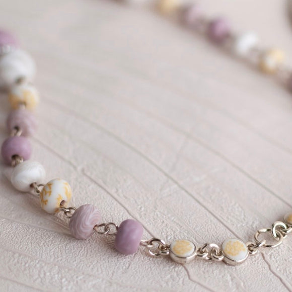 Summer Sand Gold 2-Length Beaded Necklace