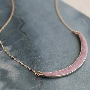 Summer Sand Gold Reversible Curve Necklace