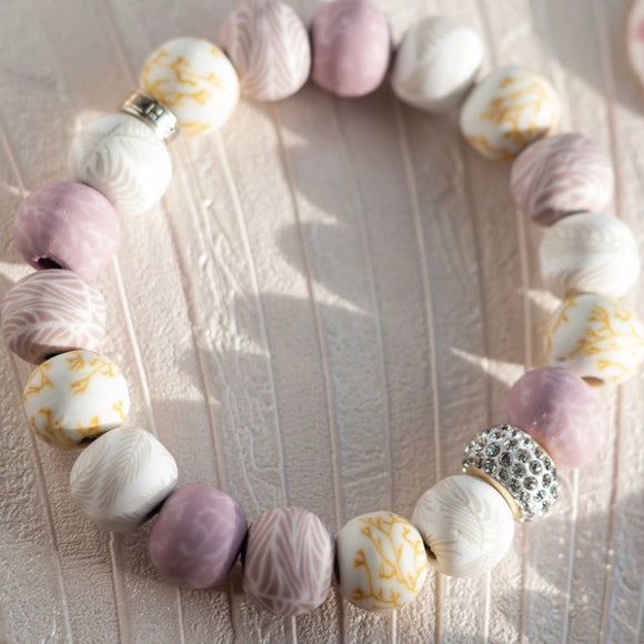 Summer Sand Crystal Stretch Bracelet
