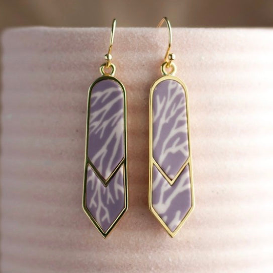 Summer Sand 14K Gold Double Arrow Earrings