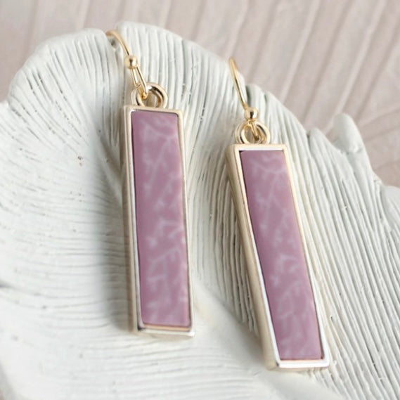 Summer Sand Gold Reversible Bar Earrings
