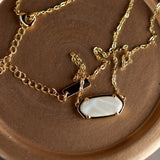 Summer Sand 14K Gold Reversible Hex Short Chain Necklace