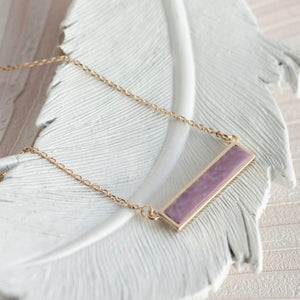 Summer Sand Gold Reversible Bar Necklace