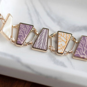 Summer Sand Gold Reversible Triangle Bracelet