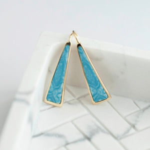 Montego Bay 14K Gold Triangle Drop Earrings