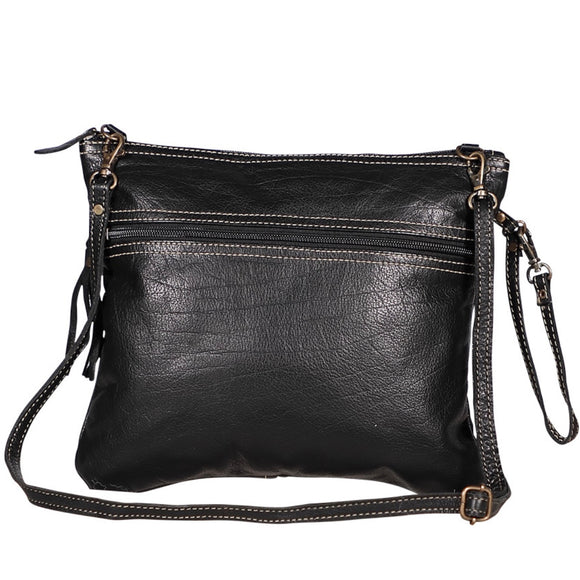 BLACK BEAUTY LEATHER BAG #1981