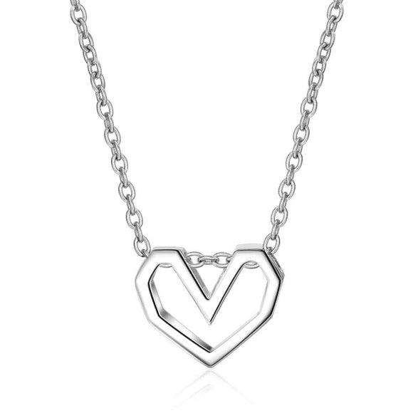 Sterling Silver Necklace - Heart