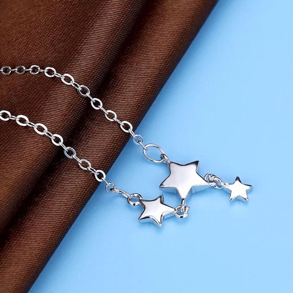 Sterling Silver Necklace - Stars