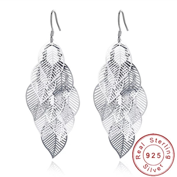 Sterling Silver Earrings - Fluttering Leaves