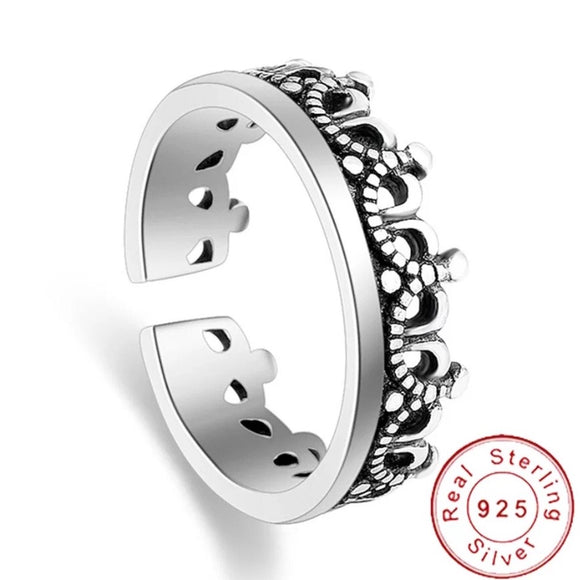 Sterling Silver Ring - Crown