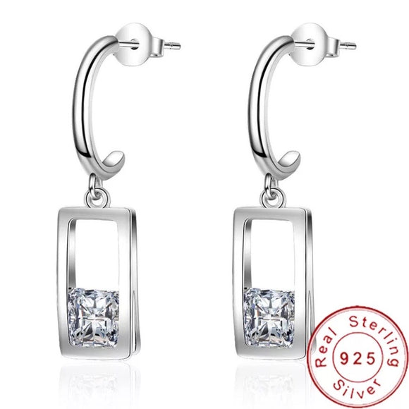 Sterling Silver  Earrings - Drop Box