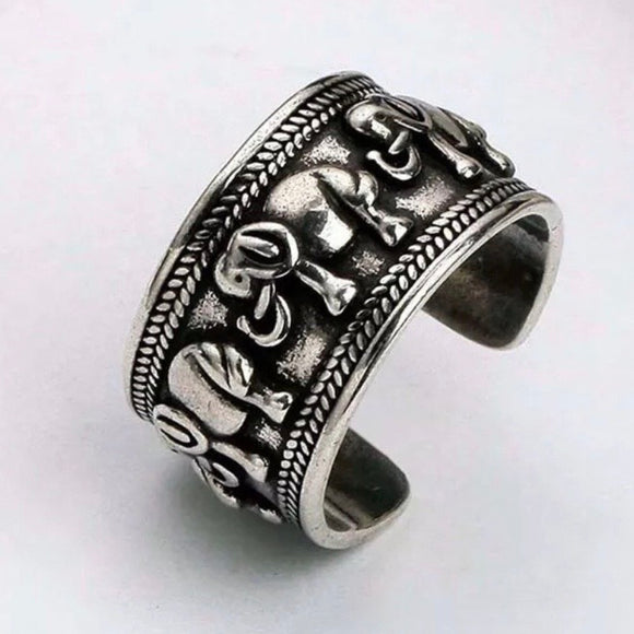 Sterling Silver Ring - Elephants