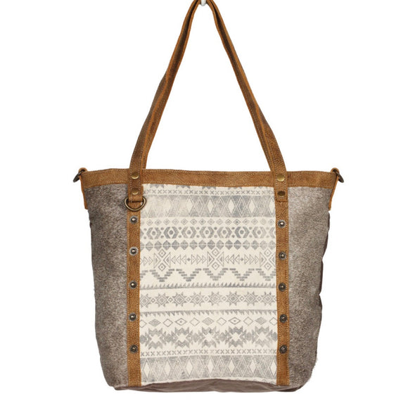 EMBLEM SIDE HAIR TOTE BAG - #1249