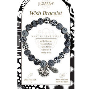 Black White Wish Bracelet