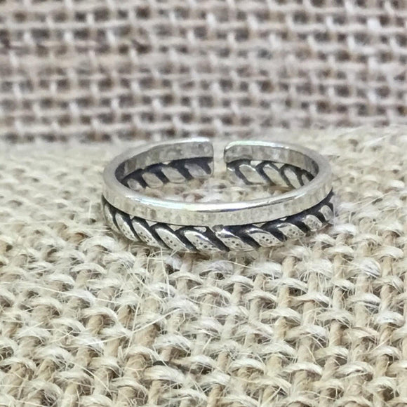 Sterling Silver Ring - Braid & Solid