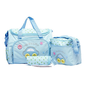 Nappy Bag Traveling Set For Mom & Baby 3 Pcs