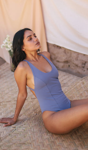 Gracia Bodysuit / Lavender blue