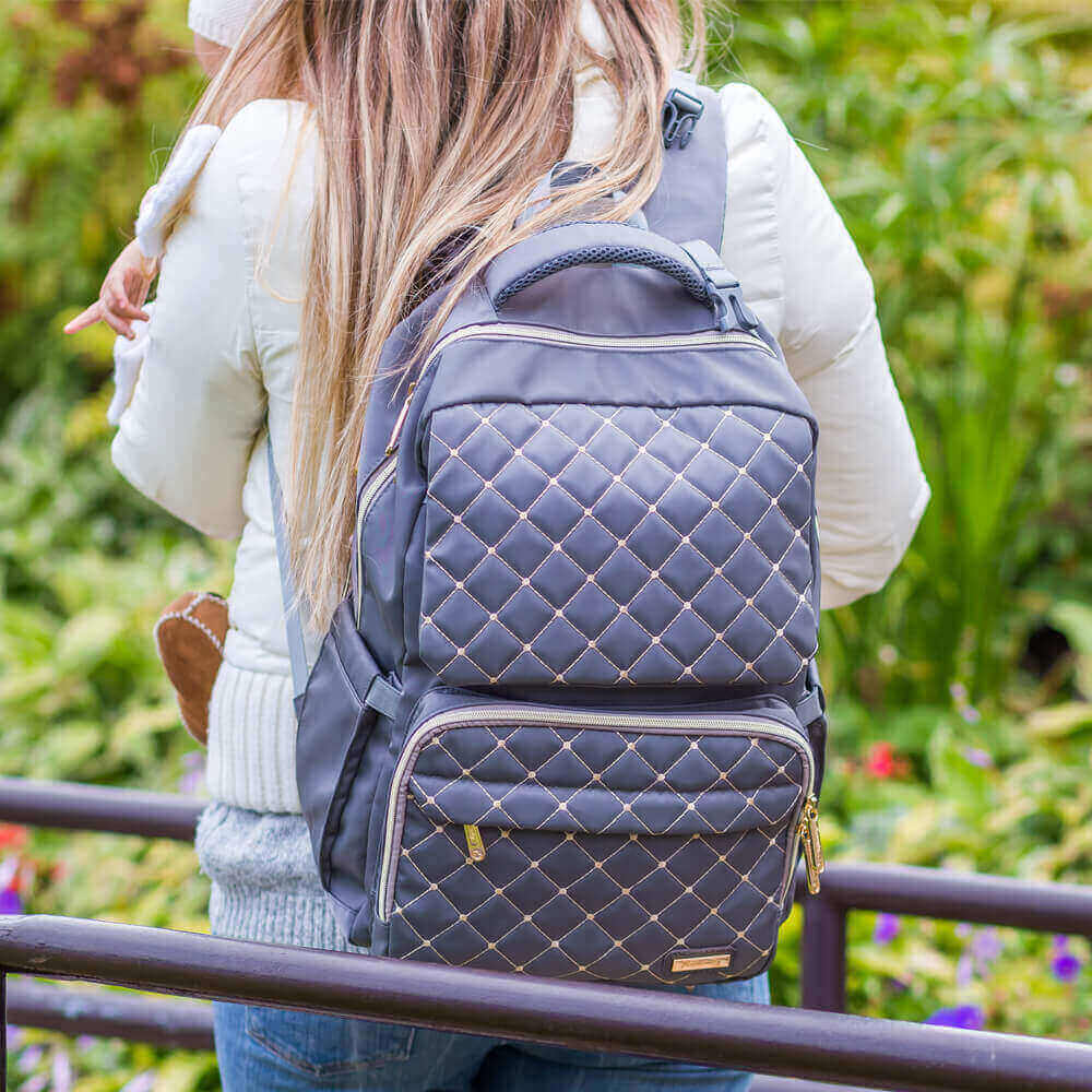 Bamomby Classic Grey Diaper Bag Backpack - Bamomby