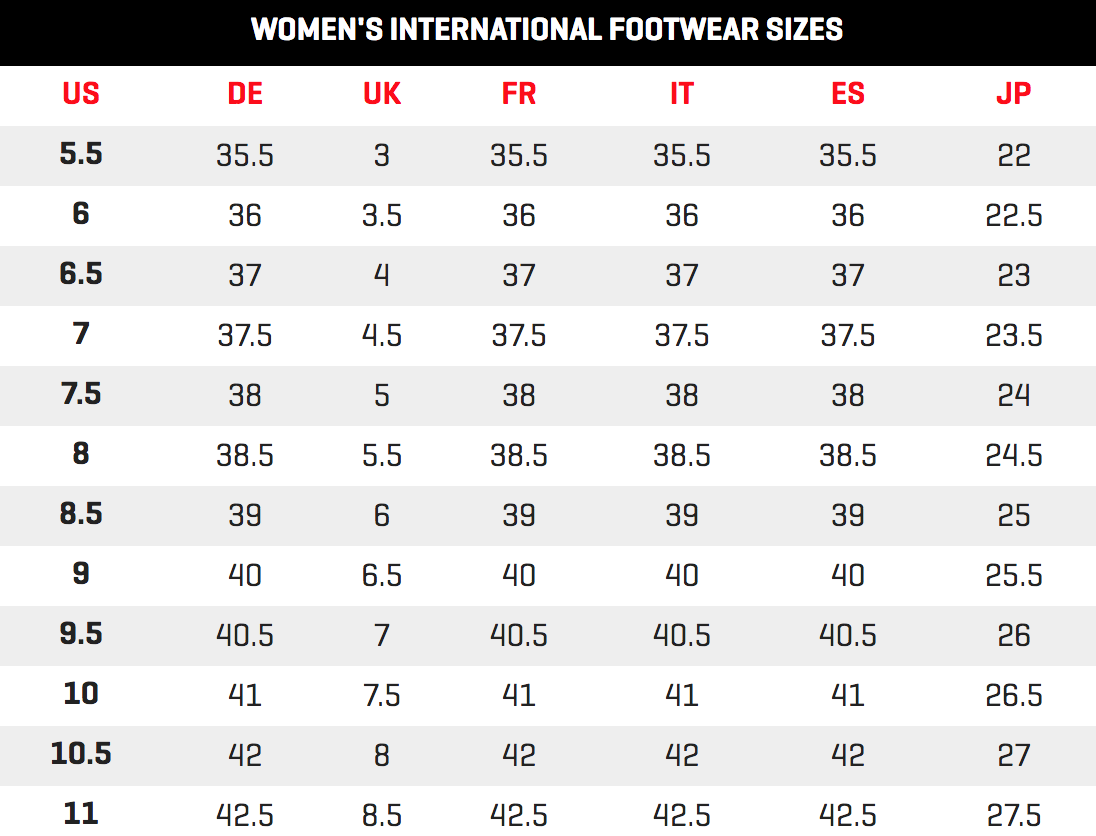 e33f67534a47 Please compare your size directly using with our shoe size conversion chart  and measure your foot