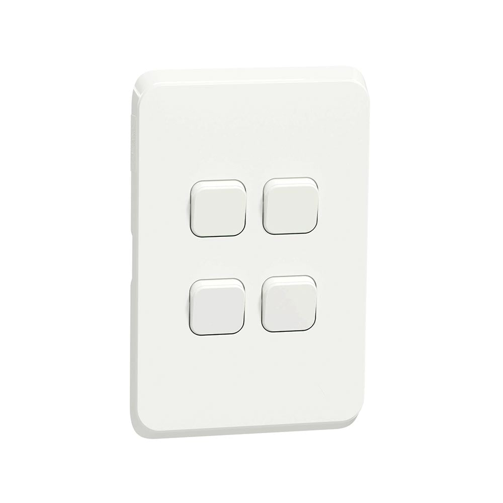 Schneider Electric Iconic 4 Lever Light Switch