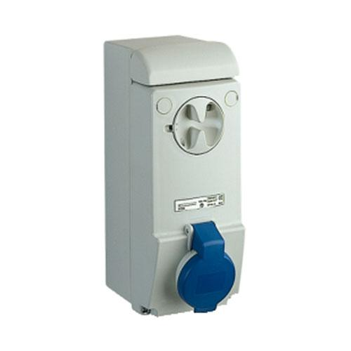 Schneider Electric Pratika Industrial Wall Mount Socket with Interlock Switch IP44